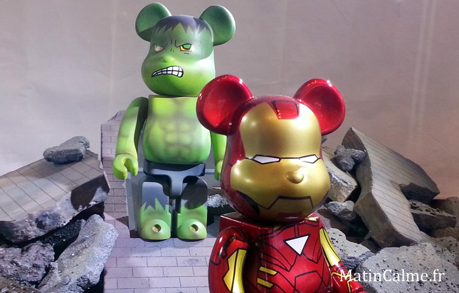 Hulk et Iron Man dans une mise en scène post-apocalyptique, bouh çà fait peur...