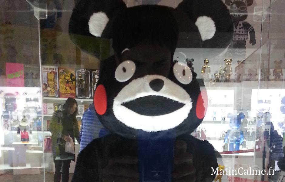 L'ours le plus célèbre de Fukuoka (Japon). On en trouve partout là-bas.